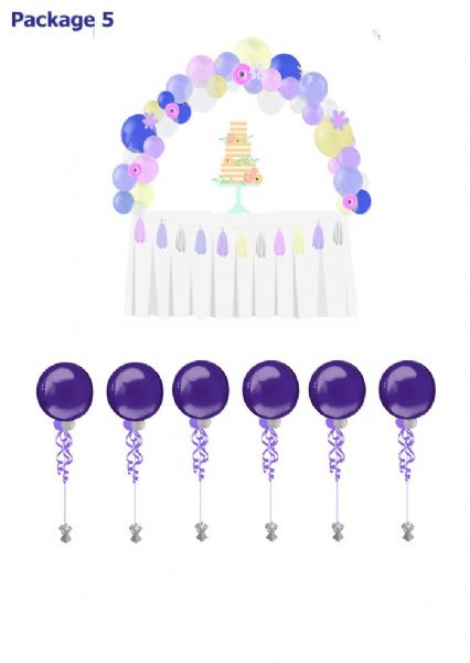Balloon Package5: Cake Table & Table balloons